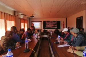 माडीमा बिपद प्रतिकार्य सम्बन्धि दुई दिने तालिम आइतबारबाट सुरु