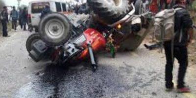 जन्ती बोकेको ट्रयाक्टर दुर्घटनामा दुईको मृत्यु, पाँच घाइते