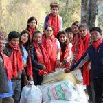 मैयाँदेवी कलेजका छात्राद्वारा कोराकको चेपाङ बस्तीमा सहयोग