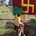 पशुपति क्षेत्रमा बाँदरबाट बचाइएको फूलमाला मानिसहरुले चोरे