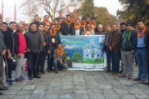 पोखराको पर्यटन प्रर्वद्धन गर्न व्यवसायीहरुको टोली भारत मिसनमा