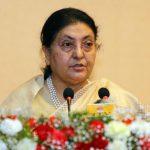 नेपाल र चीनबीचको सहकार्यले आर्थिक विकासमा रुपान्तरण गर्नेछ : राष्ट्रपति