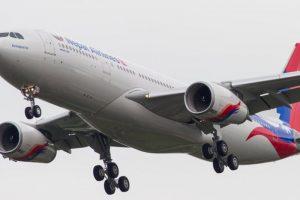 नेपाल एयरलायन्सको वाइडबडी मेडिकल सामग्री लिन गोन्जाओ उड्दै
