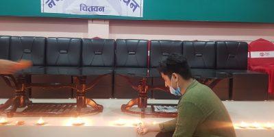 नेपाल प्रेस युनियनको स्थापना दिवसमा दीप प्रज्वलन