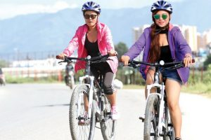 चितवनमा लकडाउनले गर्दा साइकल चलाउने बढे