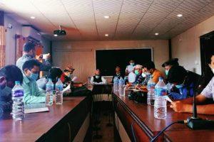 माडीमा अयोध्याधाम लगाएतका विषयकमा पत्रकार सम्मेलन
