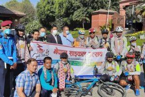 पर्यटन प्रवर्द्धनका लागि 'नेपाल साइकल यात्रा'