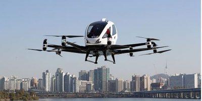 दक्षिण कोरियाद्वारा मानवरहित हवाई ट्याक्सीको परीक्षण