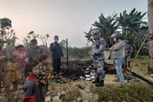 माडीमा फोहोर जलाउने क्रममा एक घर जलेर नष्ट