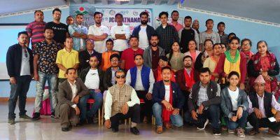 रत्ननगर जेसिजद्वारा पोल्ट्री उद्धमसिल तालिम सम्पन्न