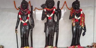 अयोध्याधाममा राखियो रामसीता, लक्ष्मण र हनुमानको मूर्ति