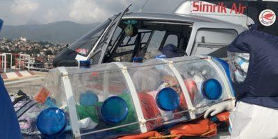 निषेधाज्ञापछि भरतपुर विमानस्थलबाट गरियो हेलिकोप्टरमार्फत ११ वटा उद्धार उडान
