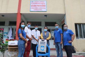 एक्सपर्टले बाड्याे चितवन, मकवानपुर, नवलपुरका स्वास्थ्य संस्थालाई अक्सिजन कन्सट्रेटर