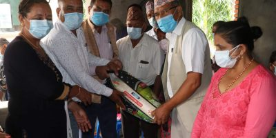 नेपाल रेड्क्रस सोसाइटी, पिठुवा उपशाखा द्वारा राहत सामग्री सहयोग,२२ परिवार लाभान्वित