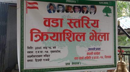 नेपाली कांग्रेस रत्ननगर-१४ को कृयाशील भेला सम्पन्न