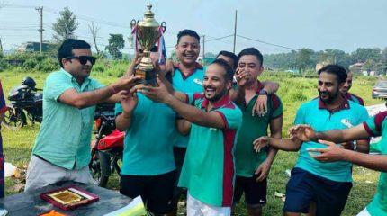 लायन्स पत्रकार मैत्रिपुर्ण फुटबल प्रतियोगिता सम्पन्न, रत्ननगर मिड नेपाल बिजयी
