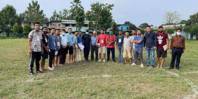 जयमंगला युवा क्लबद्धारा आयोजित टोल स्तरिय फुटबल प्रतियोगिता सुरु